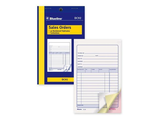 Blueline Sales Order Book