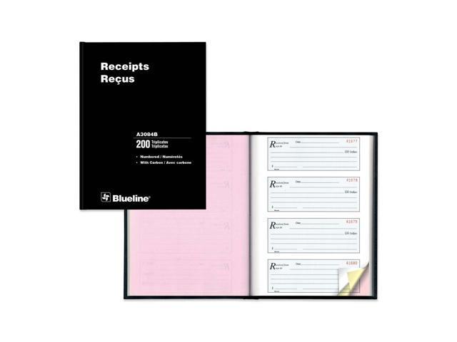 Blueline Perfect Binding Bilingual Receipt Book