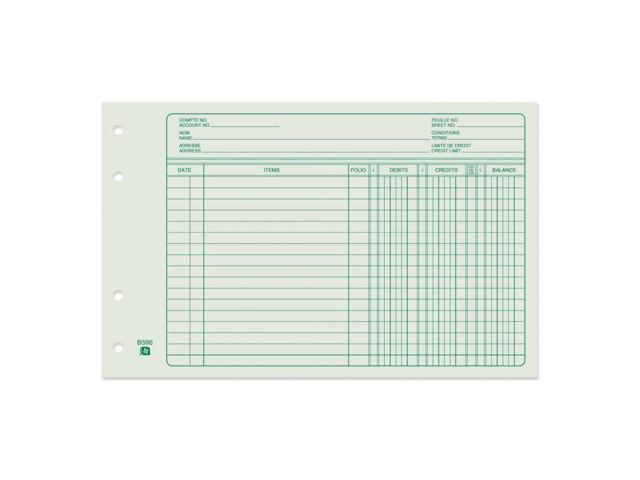 Blueline Bilingual Ledger Sheet