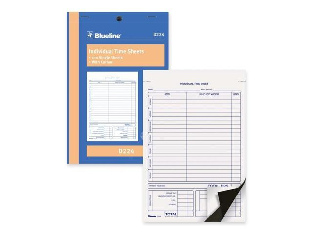 Blueline Bilingual Time Sheet