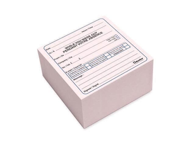Blueline Bilingual Message Cube Pad
