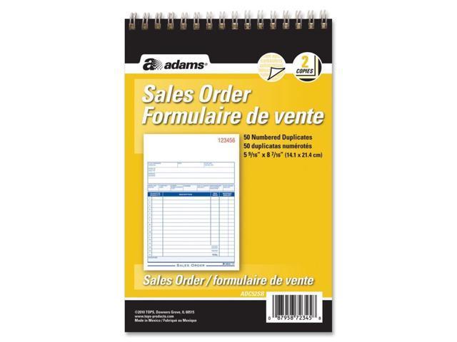 Adams Sales Order Form Book