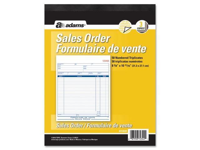 Adams Sales Order Forms Book