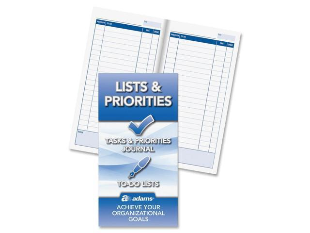 Adams Lists and Priorities Journal