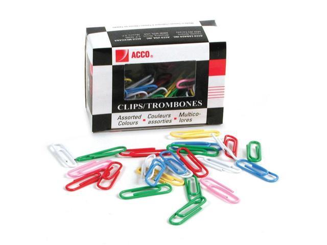 Acco Vinyl Coated Color Paper Clip