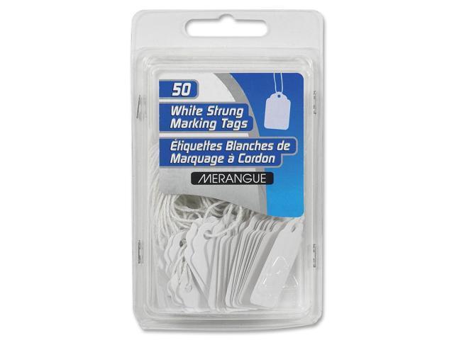 Merangue 50 Pack White Strung Tags