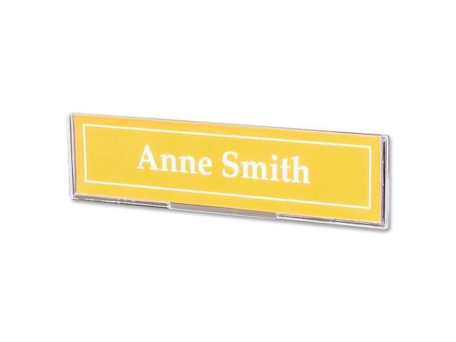 Superior Image Cubicle Sign Holder 8 1/2 x 2 Clear