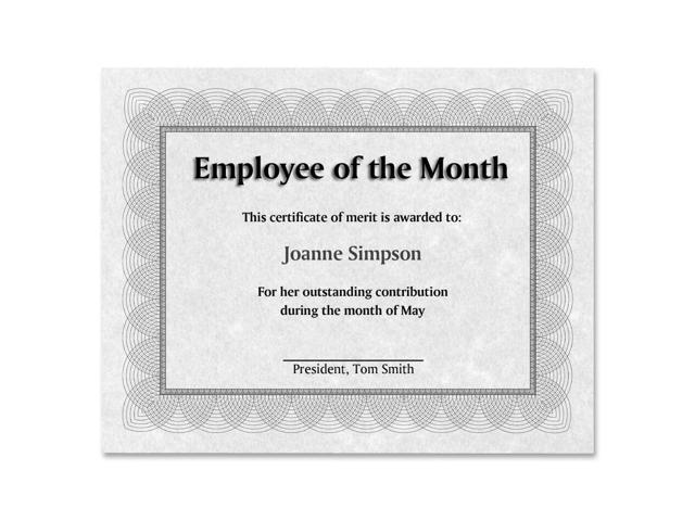 St. James Regent Style Certificate