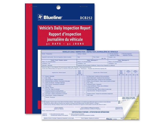 Blueline Vehicle's Daily Inspection Report