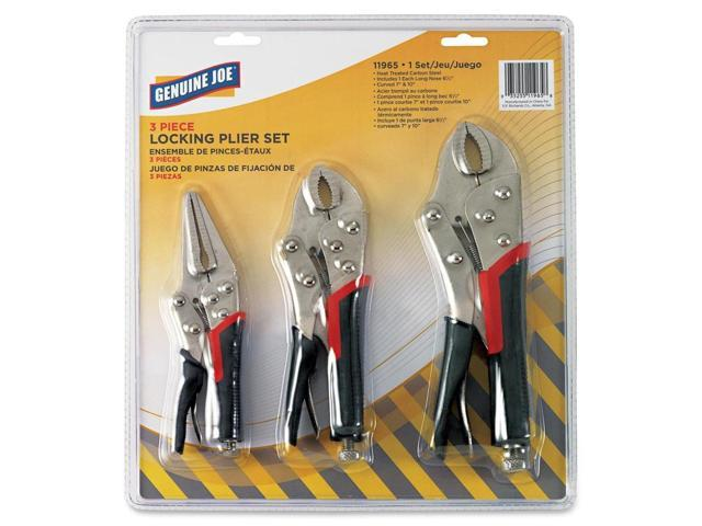 Genuine Joe 11965 3pc Locking Plier Set