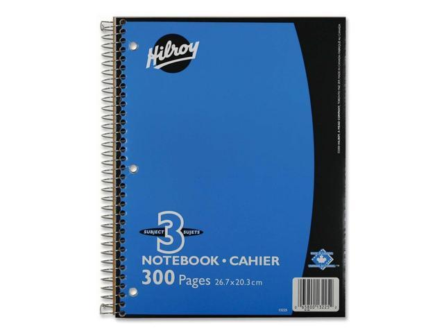 Hilroy Executive Coil Three Subject Notebook