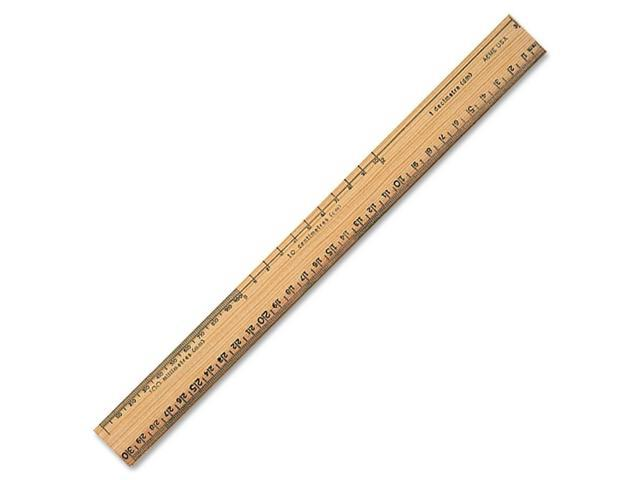 Acme United Plain Edge Double Bevel School Ruler