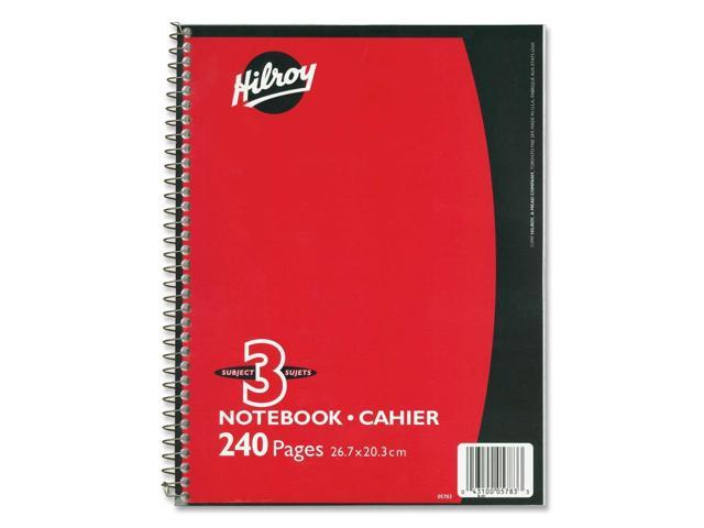 Hilroy Coil Three Subject Notebook
