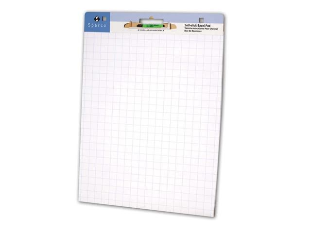 Sparco Bright White Grid Easel Pad