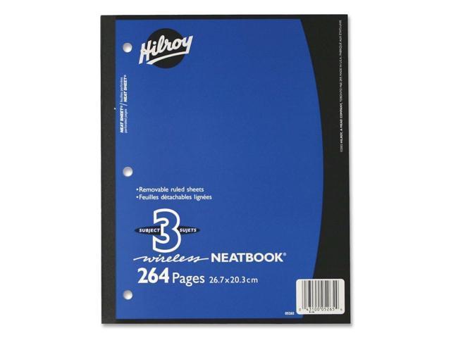 Hilroy Neatbooks Three Subject Notebook