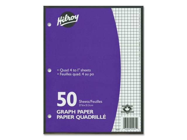 Hilroy 4:1inch Two-Sided Quad Ruled Filler Paper