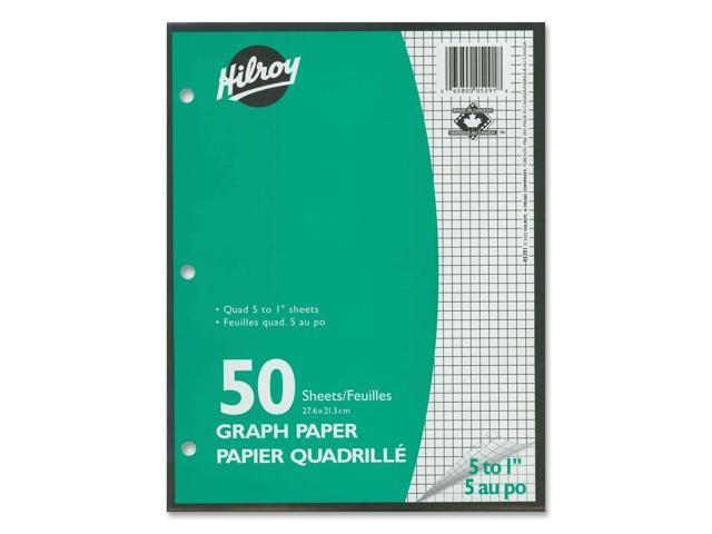 Hilroy 5:1inch Two-Sided Quad Ruled Filler Paper