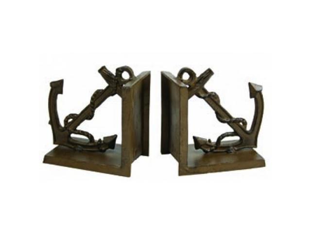 Antique brass anchor bookends 5 - Antique brass bookends ...