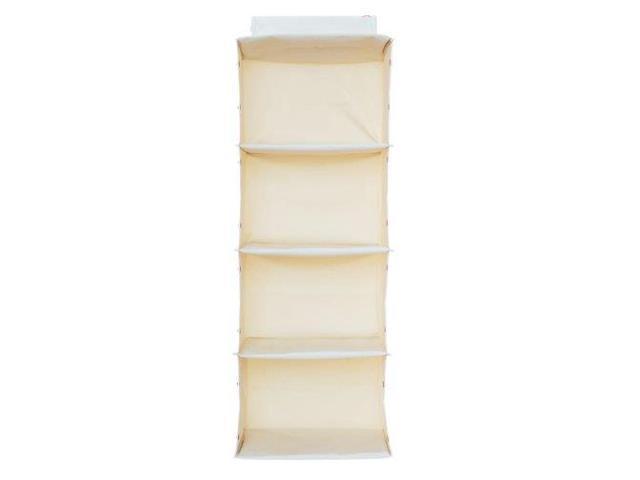 g u s no sag hanging essential 4 shelf closet organizer. Black Bedroom Furniture Sets. Home Design Ideas