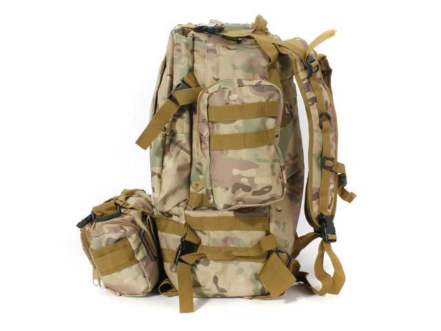 50L 3D Outdoor Molle Military Tactical Backpack Rucksack Trekking Bag Camping Waterproof 600D Military Nylon