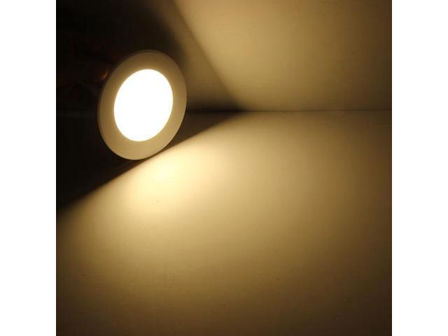 6W Round Dimmable Ultrathin Ceiling Energy-Saving LED Recessed Ceiling Panel Light AC 85 - 265V With LED Driver White