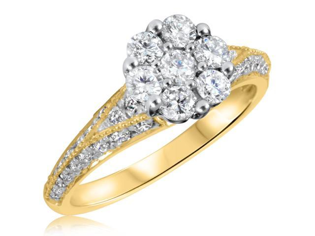 1 1/6 CT. T.W. Diamond Ladies Engagement Ring 10K Yellow Gold- Size 5.25