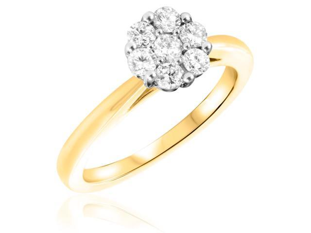 2/3 CT. T.W. Diamond Ladies Engagement Ring 14K Yellow Gold- Size 7.75