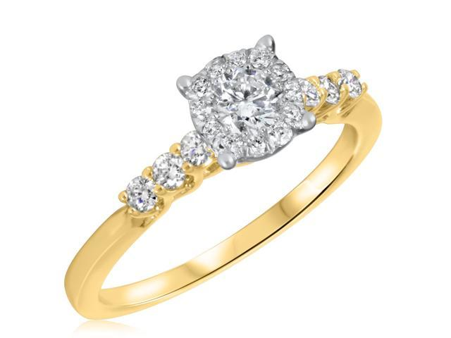 5/8 CT. T.W. Diamond Ladies Engagement Ring 10K Yellow Gold- Size 7.75