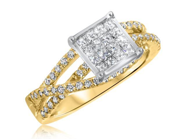 2/3 CT. T.W. Diamond Ladies Engagement Ring 10K Yellow Gold- Size 6