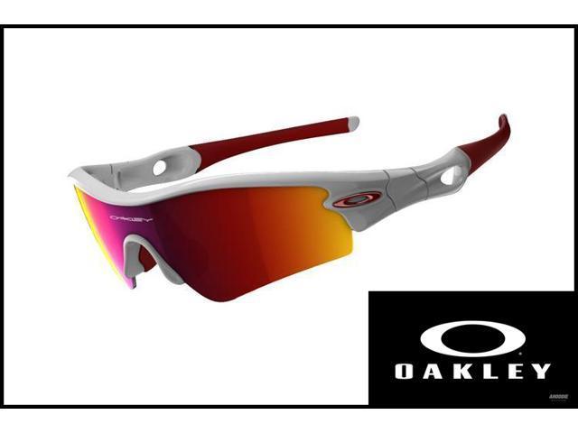 Oakley 09-721J Sunglasses Radar Path A Polished White/Positive Red Iridium