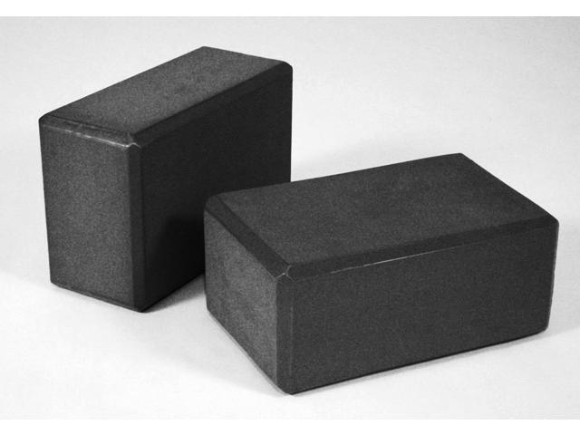 4 Inch Foam Yoga Blocks by Yogavni (Black) Set of 2