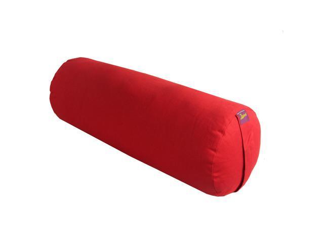 Round Yoga Bolster (Maroon)