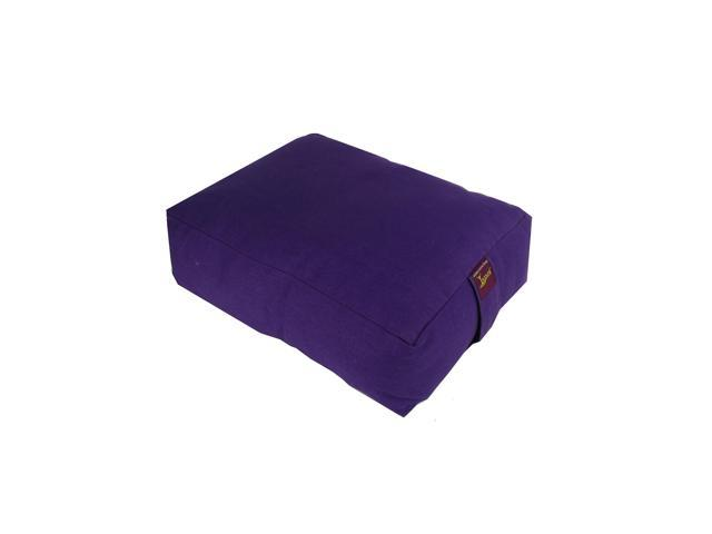 Zen Cotton Zafu for Yoga & Meditation (Purple)