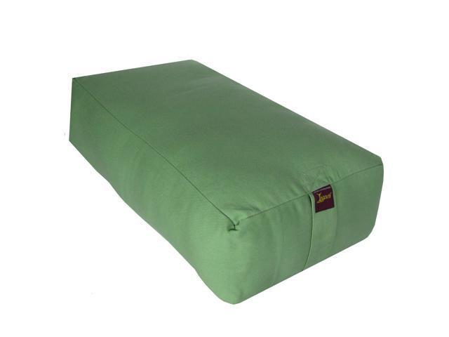 Rectangular Cotton Filled Large Yoga Bolster (Sage)
