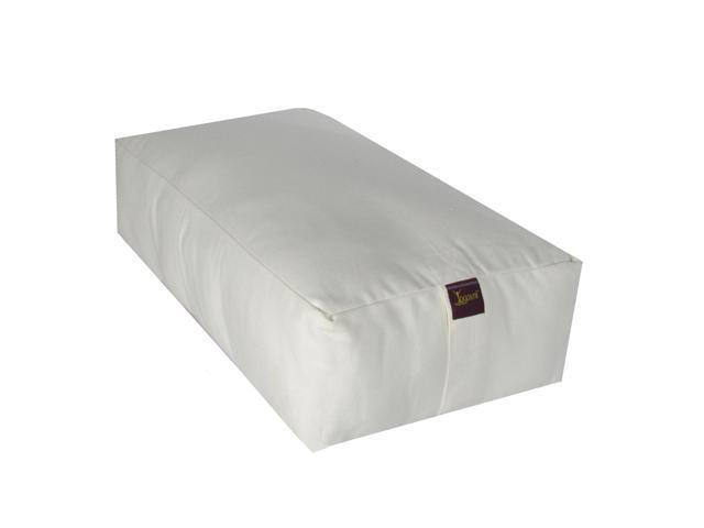 Rectangular Cotton Filled Large Yoga Bolster (Natural off White)