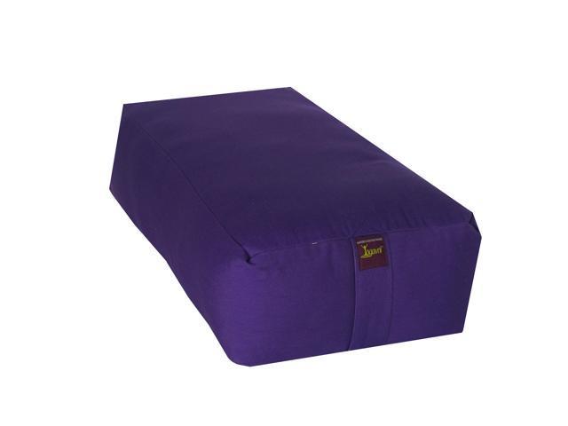 Rectangular Cotton Filled Large Yoga Bolster (Purple)