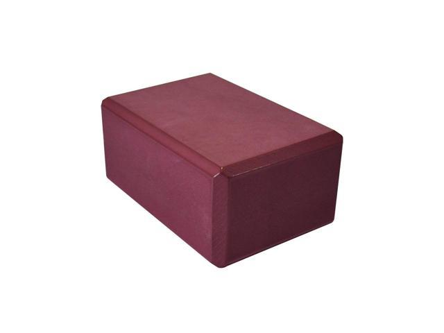 3 Inch Yoga Foam Block (Burgundy)