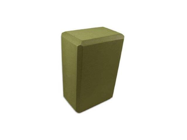3 Inch Yoga Foam Block (Olive Green)