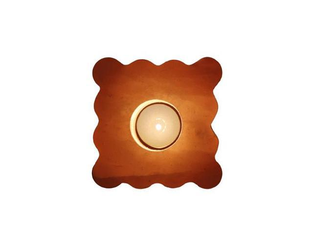 Himalayan Salt Crystal Lamps Cube Lined Shape Tea Light (Aprox 5 Inch)
