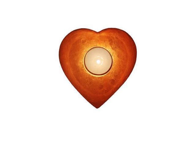 Himalayan Salt Crystal Lamps Heart Shape Tea Light (Aprox 5 Inch)