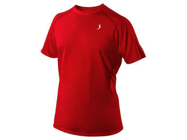 Short Sleeve Crew T-Shirt-Red-Medium