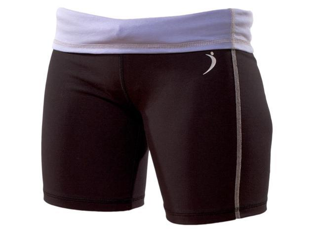 French Terry Jog short-Black/Magenta-XSML