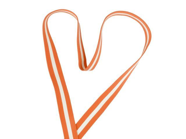 The Yogaband-Orange with OffWhite Stripes