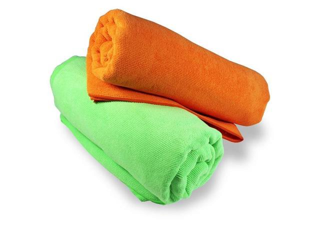 Microfiber Yoga Towel by Yogavni(TM)-Neon Green
