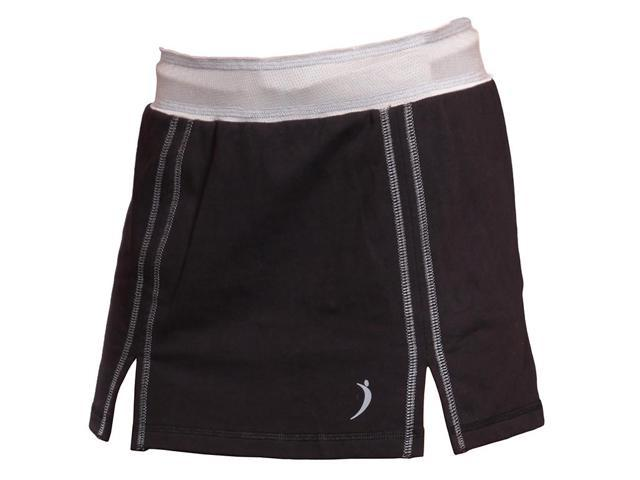 Skort with mesh under garment-Black-Large