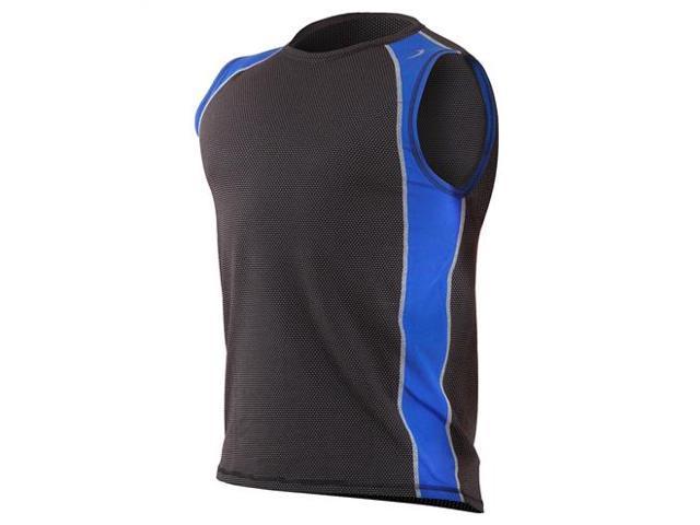 Aventia Xfit sleeveless vest-Black Mesh/ Royal-XXL
