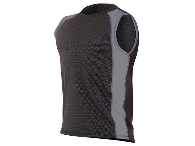 Aventia Xfit sleeveless vest-Black Mesh/Gray-XXL