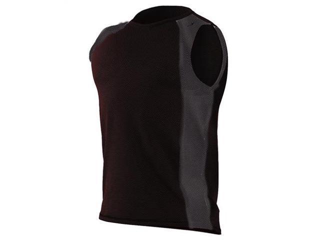 Aventia Xfit sleeveless vest-Black/Mesh Black-Large