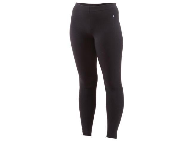 Full length underwear tights-Black-XL