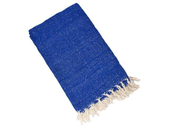 Solid Colour Deluxe Mexican Blankets (Blue)